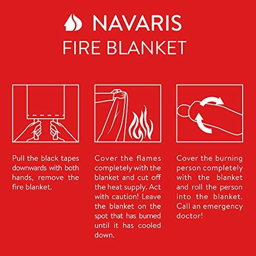 Navaris Fire Blanket for Kitchen (Pack of 2) - 47