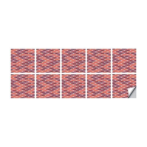 Germplasm 10 pegatinas autoadhesivas para azulejos, impermeables, 3D, antigrasas, autoadhesivas, para azulejos y azulejos de pared, para baño, cocina