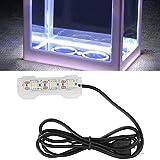 GAESHOW Lámpara LED, pequeña decoración de Acuario, luz de Planta de Agua, luz de Escritorio, pecera, Mini decoración, luz Suave