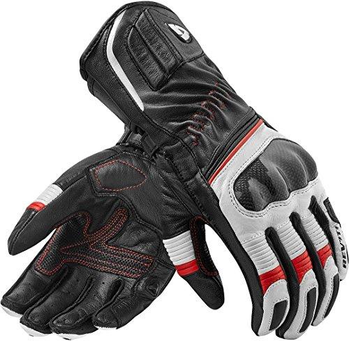 Revit XENA 2 Damen Leder Motorradhandschuhe Sport - schwarz weiss rot Größe L