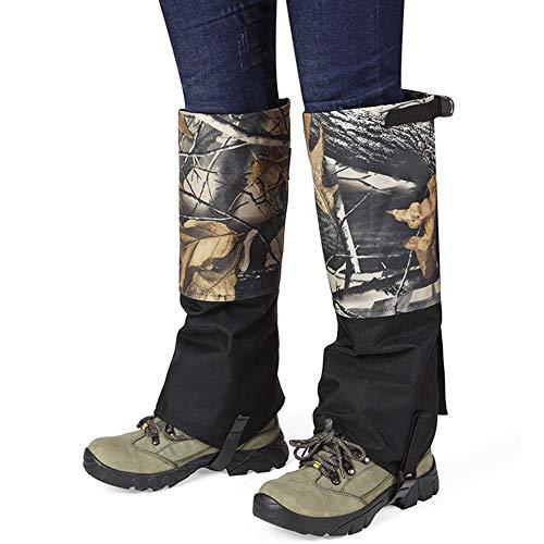 Gamaschen für Stiefel, Ultraleicht Schneeschutz, Wasserdicht Wandern Klettern Jagd Schnee Hohe Gamaschen (Männer und Frauen)