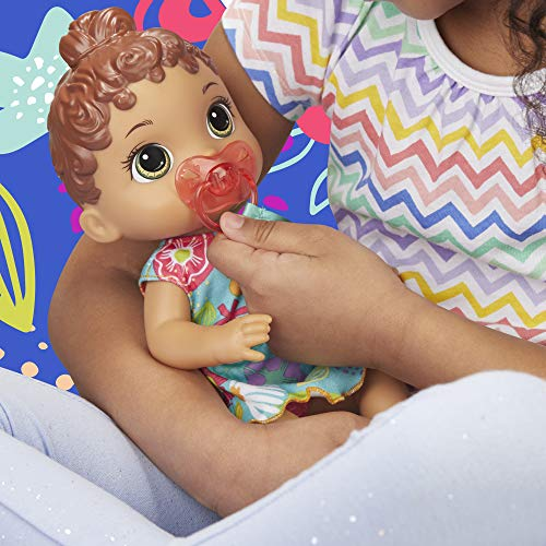Baby Alive Baby Lil Sounds: Interactive Brown Hair Baby Doll for Girls