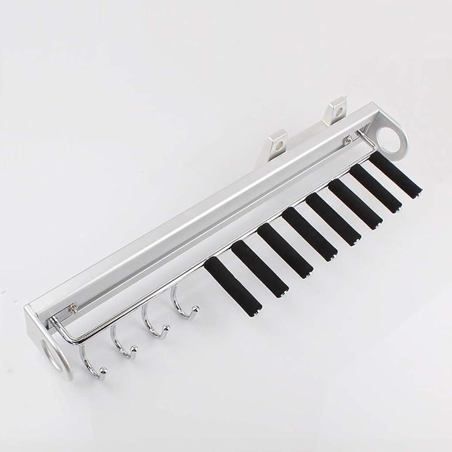 喉頭種コンベンションパンツラック 8本のタイロッドと4つのフック用のタイロッドベルトラックワードローブオーガナイザーラックを引き出す スカーフスタンド (Color : Black)