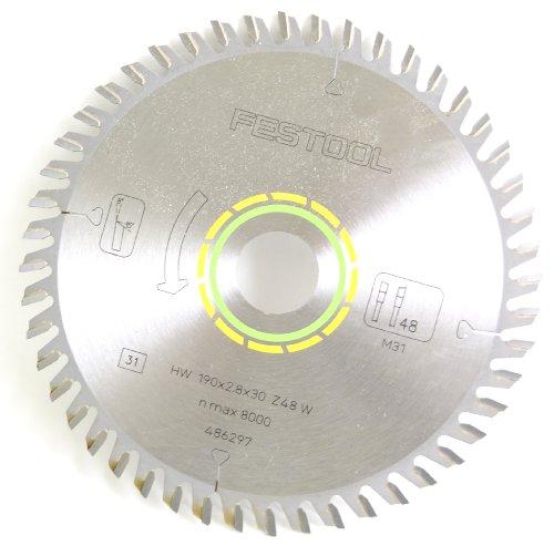 Festool 486297 Feinzahn-Sägeblatt, 190 x 2.8 x 30 mm W 48