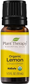 Plant Therapy Organic Lemon Essential Oil 100% Pure, USDA Certified Organic, Undiluted, Natural Aromatherapy, Therapeutic ...