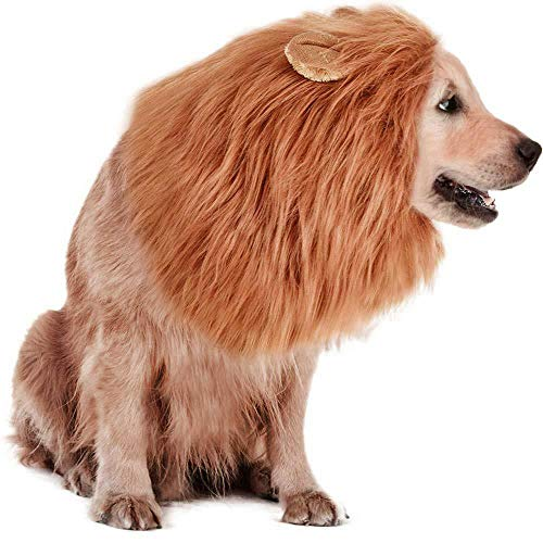 RWM Dog Lion Mane Costume - Pet Wig Clothes for Halloween Party - Lion Wig for Medium to Large Sized...