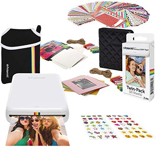 Zink Kodak Step Printer   Wireless Mobile Photo Printer Zero Ink Technology & Kodak App for iOS & Android (White) Gift Bundle