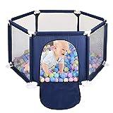 Baby und Kleinkinder Laufstall und Bällebad Set - Baby Bällebad Zelt für Junge Mädchen, Pop Up...