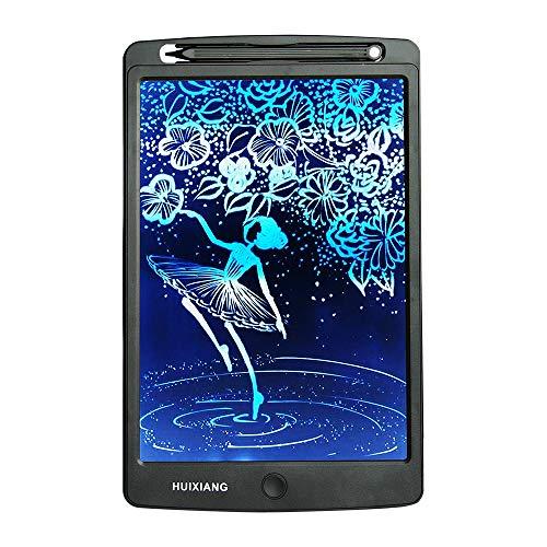 HUIXIANG - Tablet da scrittura LCD da 10 pollici, per ardesia digitale, eWriter, Writing, tablet, scrittura, disegno elettronico, idea regalo di Natale per bambini, ragazzi, ragazze, disegno (nero)
