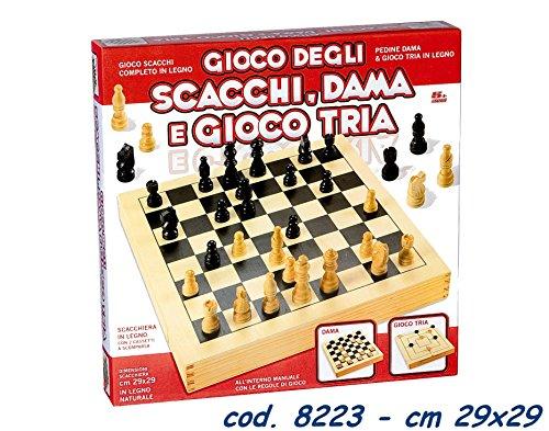 Ronchi Supertoys S.R.L. Dama Scacchi Tria Legno 29X29