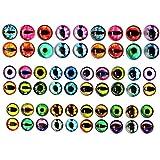 Lezed Cristal Muñeca Ojos DIY Manualidades para Juguete, Ojo de Muñeca para Juguete Dinosaurio, Ojos de Gato Redondos para Manualidades 20pcs x10mm/ 20pcs x16mm/ 20pcs x20mm