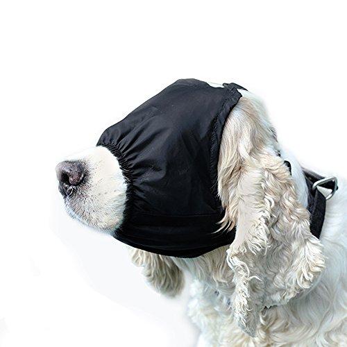 DELIFUR Hund beruhigende Augenmaske Nylon Schattierungsmaske Maulkorb für Fellpflege Anti-Auto-Krankheit