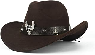 Hat Fashion Ladies Equestrian Hat Crushable Wool Felt Western Cowboy Casual Hat Fashion Accessories (Color : Brown, Size : 56-58CM)