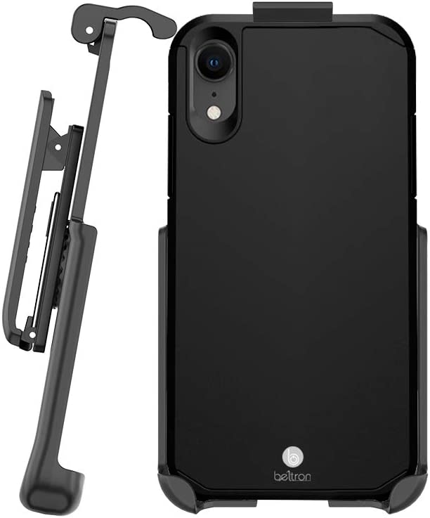 BELTRON Case with Belt Clip for iPhone XR, Slim Full Protection Heavy Duty Hybrid Case & Rotating Belt Clip Holster with Built in Kickstand, Scratch Resistant/Shock Absorption for iPhone XR (6.1)