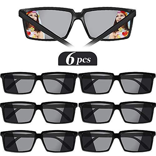 VINFUTUR 6 × Rückansicht Brille Agentenbrillen Spy Brille Lustige Spiegel Partybrillen für Geburtstagsfeier Agent Party für Kinder und Erwachsene