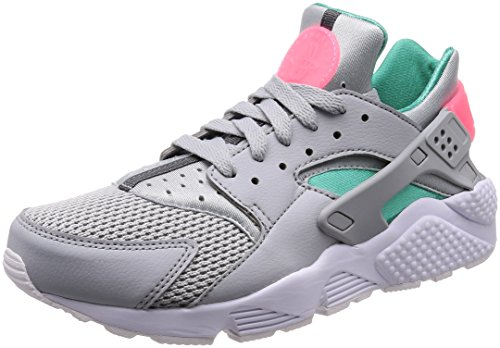 Nike Air Huarache, Zapatillas para Hombre, Gris (Wolf Grey/Kinetic Green/Sunset Pulse 053), 40.5 EU