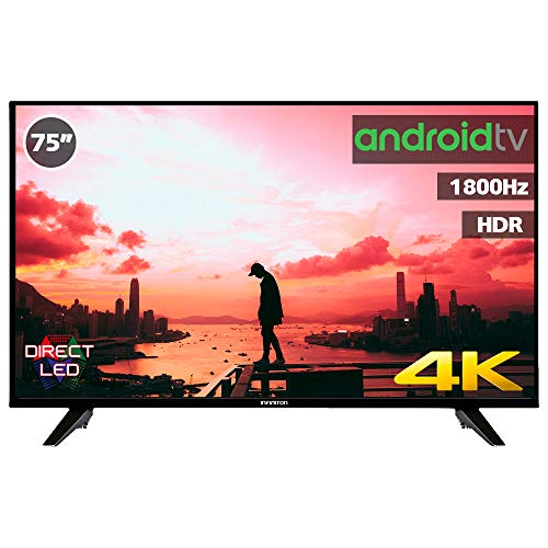 Television LED INFINITON Smart TV-Android TV (TDT2, HDMI, VGA, USB) (75 Pulgadas)