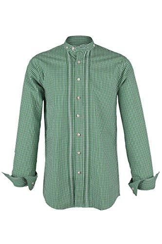 Almsach Herren Stehbundhemd Vichy grün 'Franz', grün, M