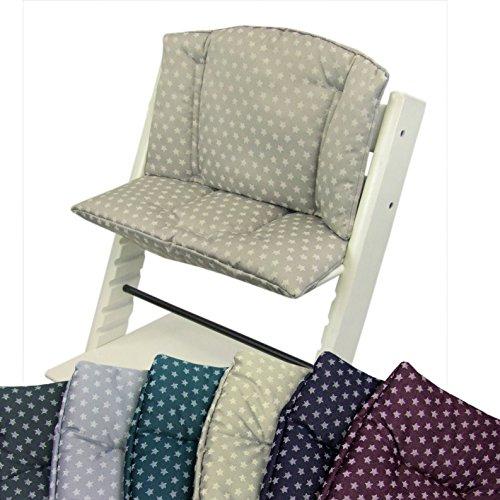BAMBINIWELT Vervangende overtrek, kussenset voor hoge stoel/kinderstoel Stokke Tripp Trap, stoelverkleiner (STERNE) beige