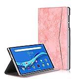 TTVie Hülle für Lenovo Tab M10 FHD Plus - PU Lederhülle Schutzhülle Cover Tasche mit Auto Aufwachen/Schlaf Funktion für Lenovo Tab M10 FHD Plus 10,3 Zoll Tablet-PC 2020 Modell, Rosa