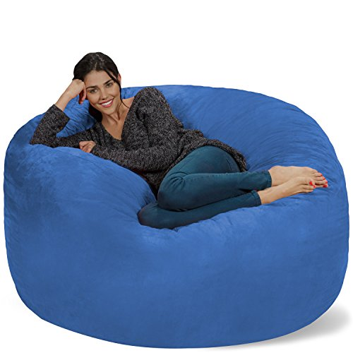 Chill Sack Bean Bag Chair: Giant 5' Memory Foam Furniture Bean Bag - Big Sofa...