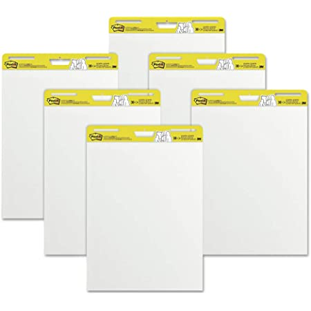 Post-it Easel Pads Super Sticky 559 VAD 6PK Self Stick Easel Pads, 25 X 30, White, 6 30 Sheet Pads/carton