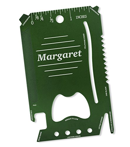 Dimension 9 Margaret - Laser Engraved, Anodized Metal Personalized Wallet Tool