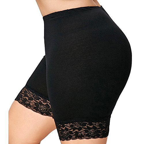 2019 Trend Pants for Women,Sale UOKNICE Womens Plus Size Mid Waist Lace Hot Shorts Elastic Sports Pants Trousers Trunks