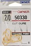 Owner Karpfen Haken goldfarben - Karpfenhaken, Größe/Packungsinhalt:Gr. 2/0 / 6 Stück