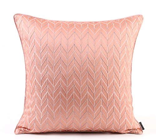 Cushion Covers V-Patterned Bedroom Sofa Decorated With Square Pillowcase Pink 45X45Cm Core