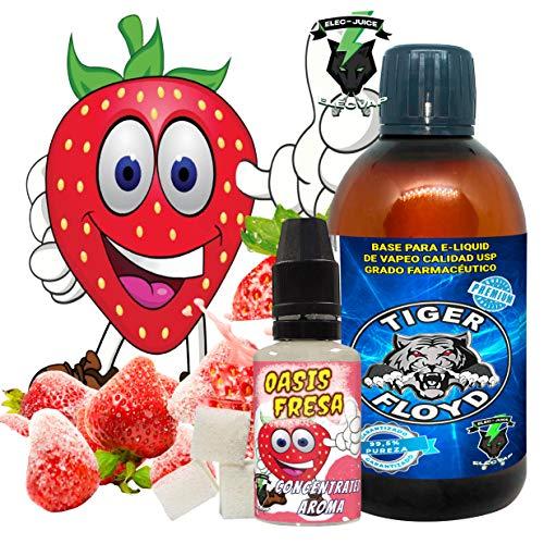 Kit Alquimia Vapeo | Oasis Fresa Aroma Concentrado + Base Vapeo - 70VG/30PG - 100 ml | Sin Nicotina: 0mg | Para Vaper Cigarrillo Electronico | Sabor Flavour