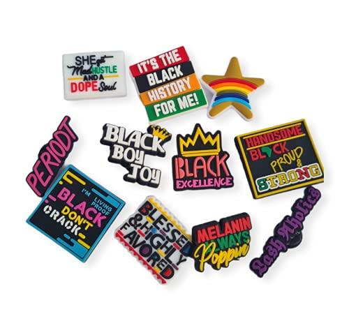 BLM negro chica mágica zapatos encantos 11 unids set zapato encanto clip accesorios L29