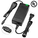 Mouow UL 42V 2A Power Adapter 3-Prong Powerfast Inline Connector for 36V Pocket Mod,Dirt Quad,and Sports Mod More,Lithium Battery Charger