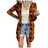 Women's Casual Loose Open Front Cardigans Soft Draped Waffle Chunky Long Sleeve Cardigan Outwear with Pockets