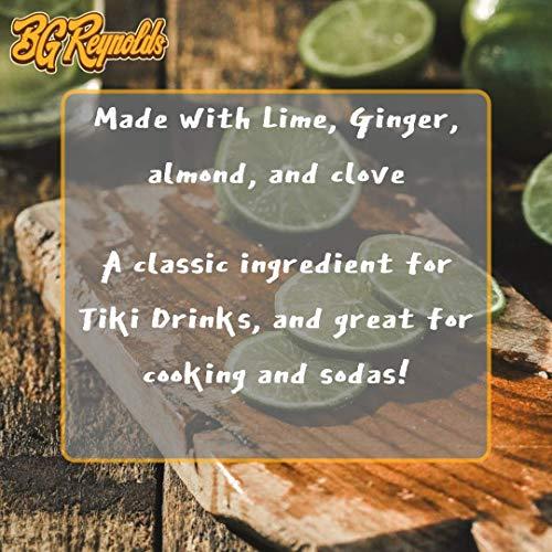 BG Reynolds Natural Tiki Cocktail Cane Syrup, Falernum, 375 ml, Packaging May Vary