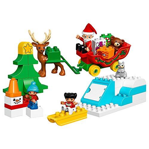 EPHIIONIY Lego DUPLO Stadt Santa\'s Winter Holiday 10837 Bausatz