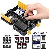 【ATOM】カメラのバッテリー収納ボックス カードホルダー SD CF micro SDメモリーカードケース 防水性と耐衝撃性のある収納ケース ニコン電池用 キヤノン電池用 屋外旅行用
