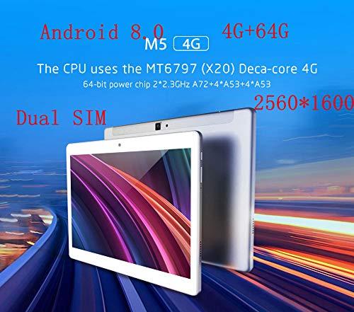 ALLDOCUBE M5 10.1 Pulgadas 4G Llamada telefónica Tablet PC 2560 * 1600 IPS Android 8.0 MTK X20 Deca Core 4GB RAM 64GB ROM 5MP GPS WiFi Dual
