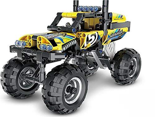 Técnica Auto Extreme Crawler Monster truck con motor de retracción, juguete de construcción de 199 piezas