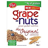 ブドウナットカリカリ小麦&大麦麦芽を580グラム - Grape-Nuts Crunchy Wheat & Malted Barley 580g [並行輸入品]