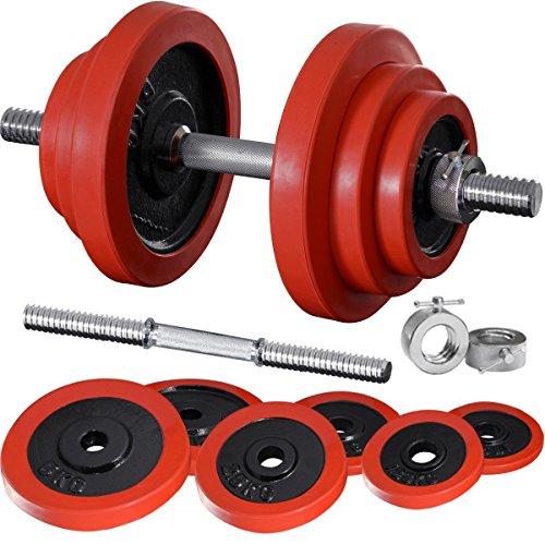 FIELDOOR ラバー ダンベル 40KG セット (片手20KG×2個 セット) ラバーダンベル/ラバータイプ/合計40kg/お得な2セット/筋トレ/器具/トレーニング器具