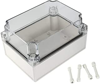YXQ 175x125x100mm ABS Junction Box w PC Transparent Cover Waterproof Project Enclosure Case Outdoor (7 x 5 x 4 inches)