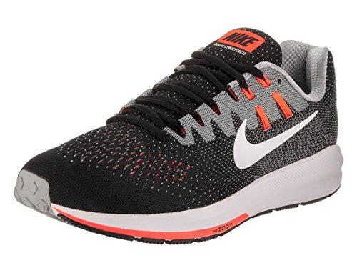 Nike - Zapatillas de deporte Air Zoom Structure 20, color BLACK/WHITE-MATTE SI, tamaño 7