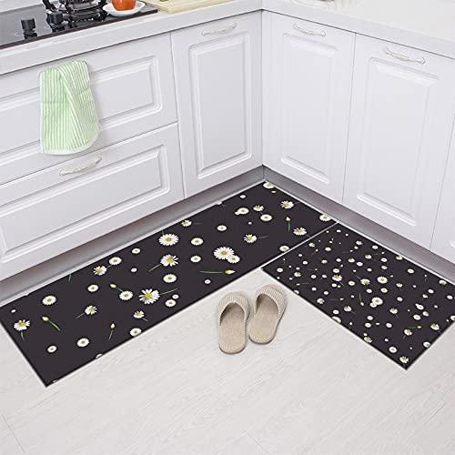 European Style Two-Piece Set Kitchen Mat Entrance Doormat Home Living Room Decoration Mats Bathroom Anti-slip Rugs A23 50x160cm