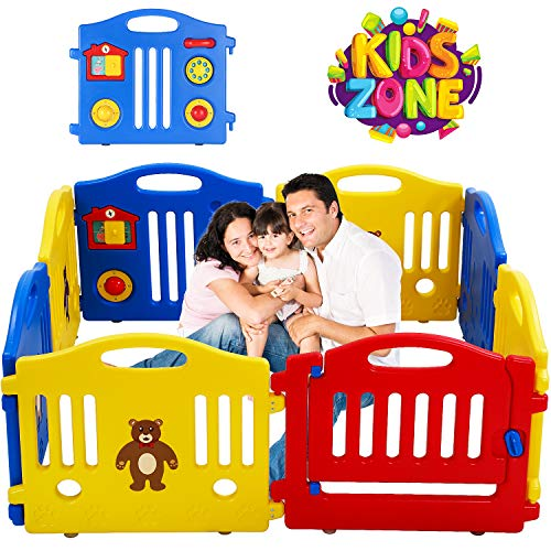 Cheapest Prices! 8 Panels Baby Playpen for Babies Baby Play Yards Kids Activity Centre Home Indoor O...