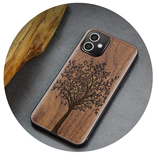 Carveit Wood Back Cover For iPhone SE 2020 7 8 Plus 12 Mini 11 Pro MAX X XS XR Shockproof Shell Thin Hull Accessories Phone Case