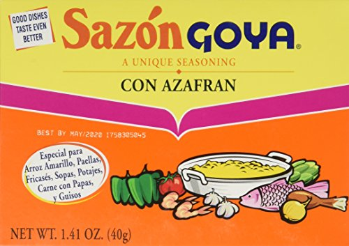 GOYA SAZON ARZFRAN 1.41OZ, 8 PC