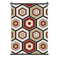 Seamless Japanese Hexagon Crest Patternポスターハンギングペインティングウッドフレーム装飾壁アートスクロールポスターハンギングホームアートプリント装飾絵画40cm * 60cm