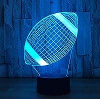 ナイトライト、ナイトランプ、サッカー3D Lighing装飾フレンズギフトLed Usbキッズギフト子供用ベッドルーム