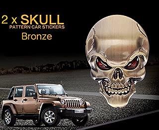 CaserBay 2 Pack 3D Marvel Metal Badge Motorcycle Car Sticker Logo Emblem Decals Decoration for Car Styling